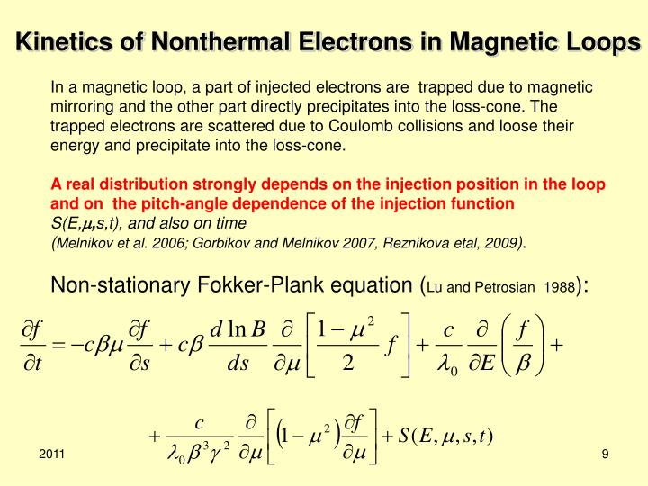 Kinetics of Nonthermal Electrons in