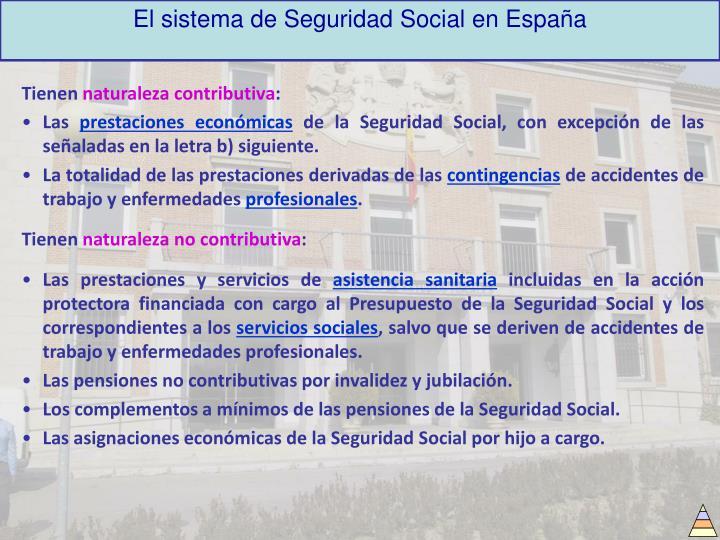 El sistema de Seguridad Social en España