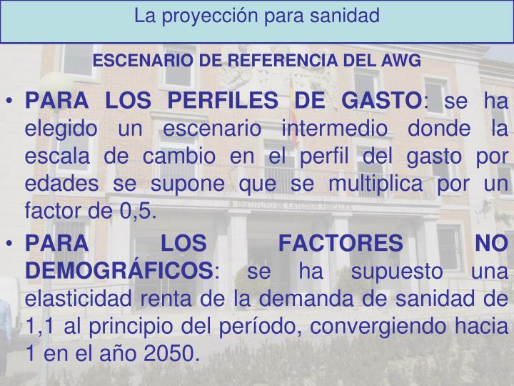 PARA LOS PERFILES DE GASTO