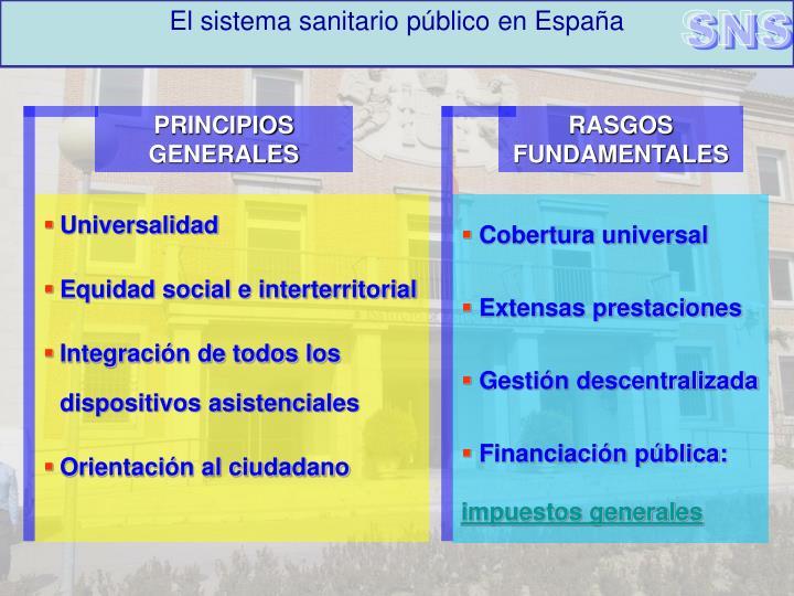 El sistema sanitario público en España
