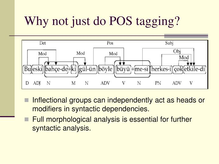 Why not just do POS tagging?
