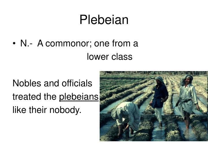 Plebeian