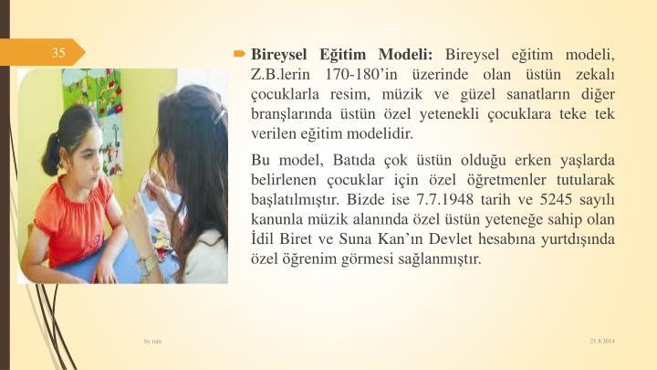 Bireysel Eitim Modeli: