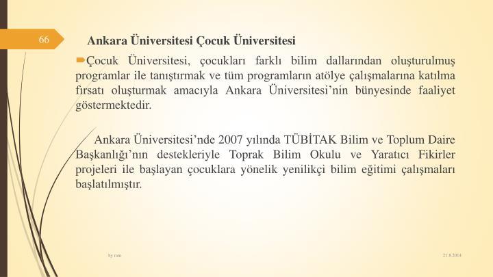 Ankaraniversitesi ocuk niversitesi