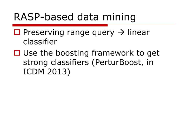 RASP-based data mining