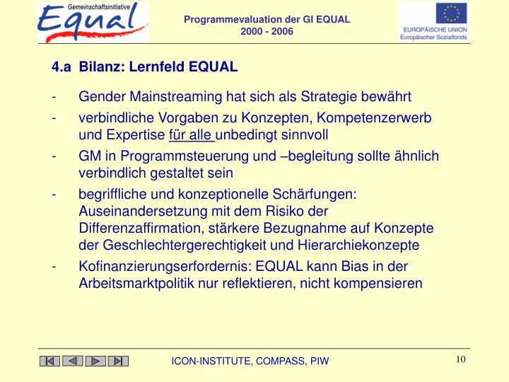 4.a Bilanz: Lernfeld EQUAL