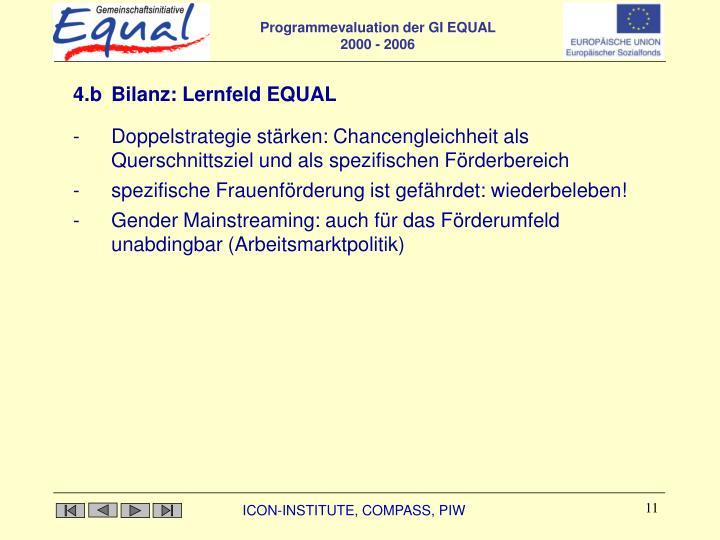 4.b Bilanz: Lernfeld EQUAL