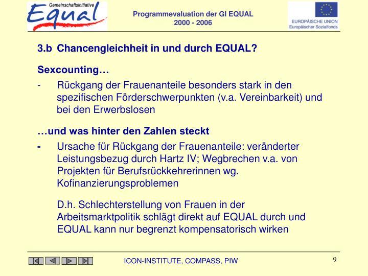 3.b Chancengleichheit in und durch EQUAL?