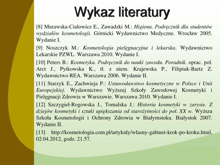Wykaz literatury