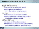 in more detail p2p vs pon1