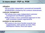 in more detail p2p vs pon2