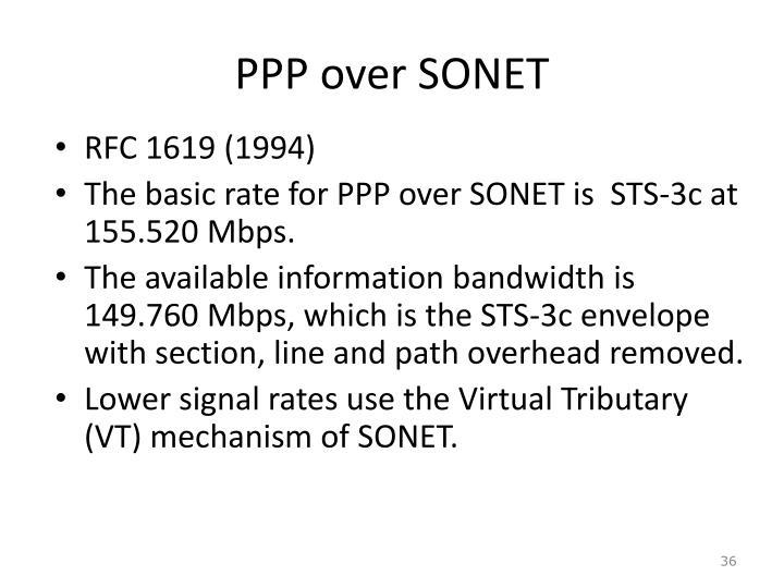 PPP over SONET