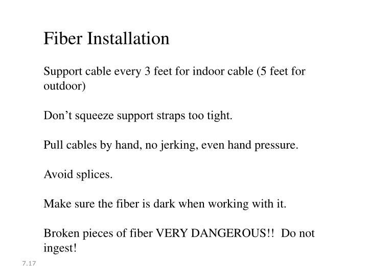 Fiber Installation