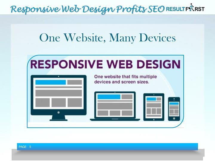 Responsive Web Design Profits SEO