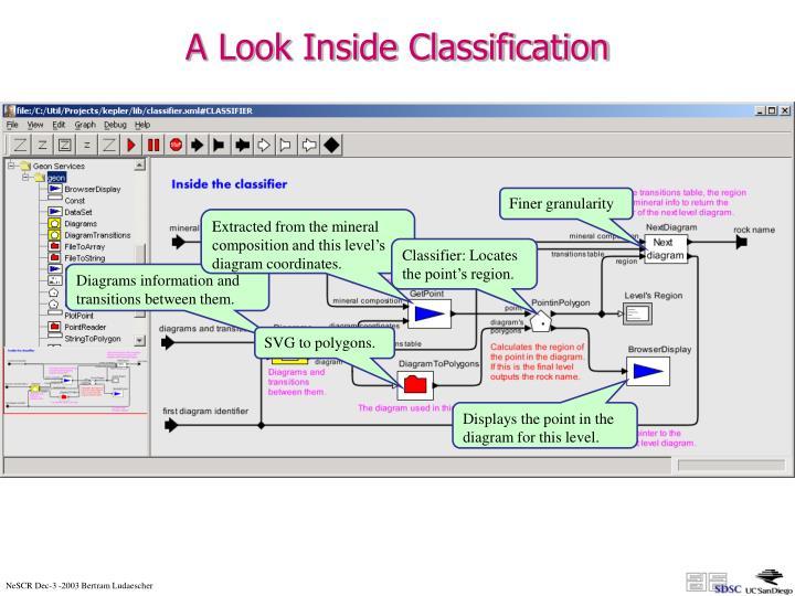 A Look Inside Classification