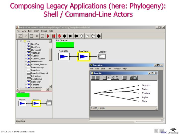 Composing Legacy Applications (here: Phylogeny):