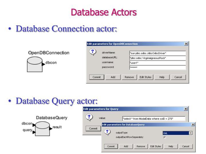 Database Actors