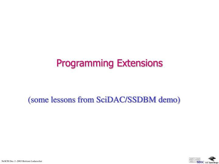 Programming Extensions