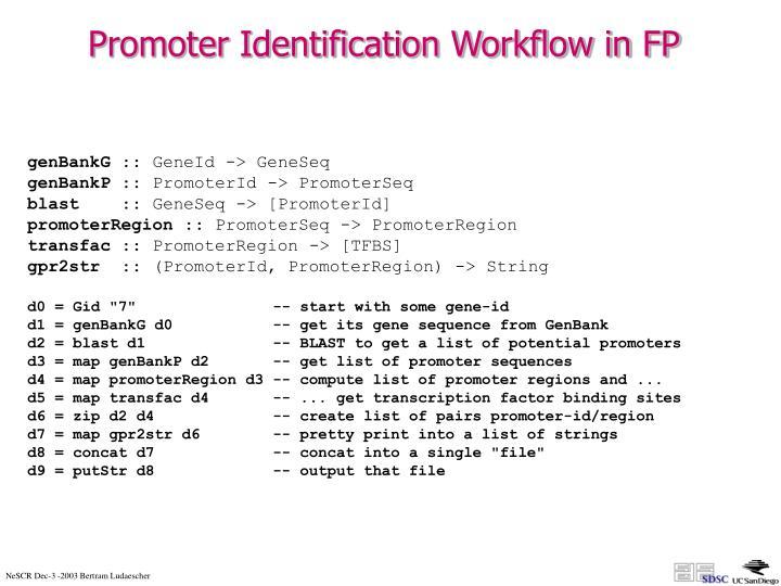 Promoter Identification Workflow in FP
