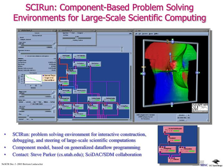 SCIRun: Component-Based Problem Solving Environments for Large-Scale Scientific Computing
