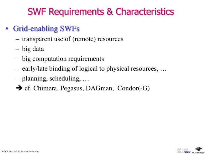 SWF Requirements & Characteristics