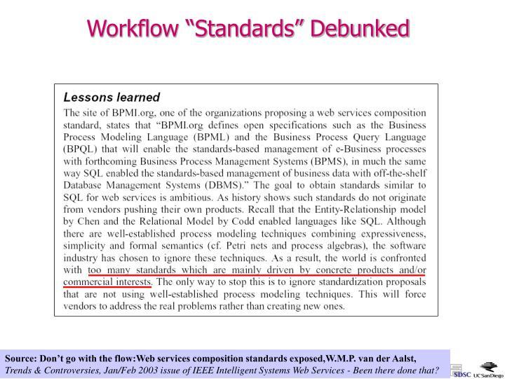 """Workflow """"Standards"""" Debunked"""