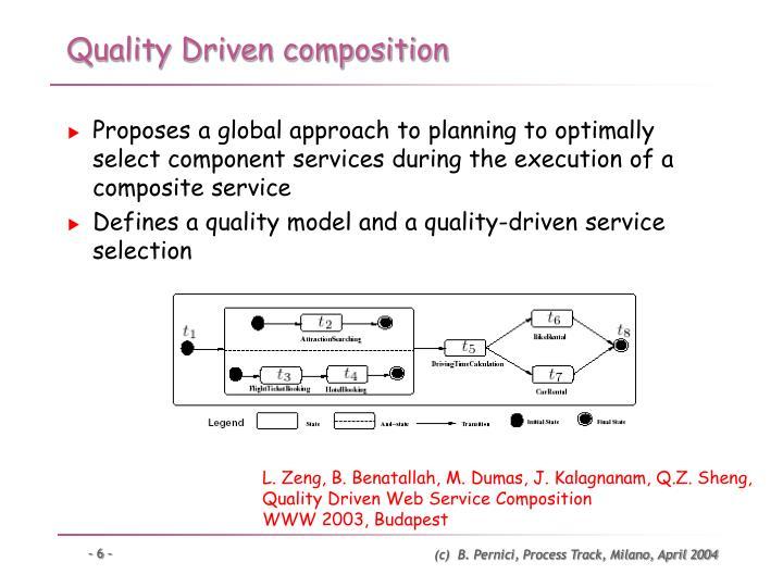 Quality Driven composition