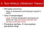 4 teori atribusi attribution theory