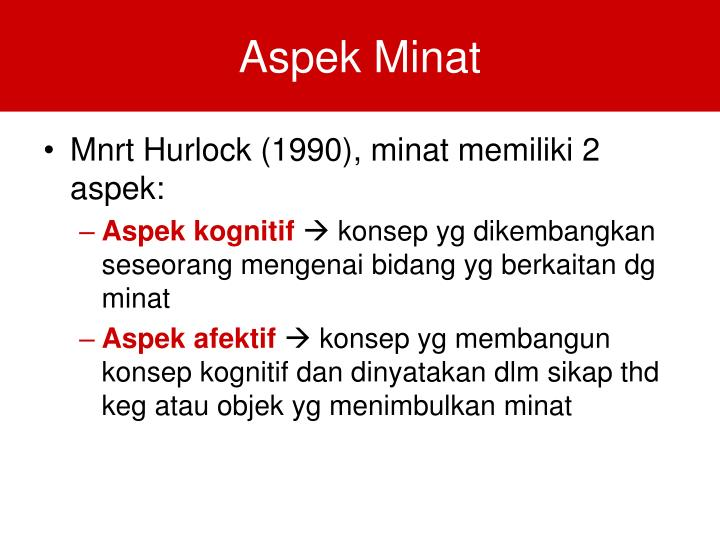Aspek Minat