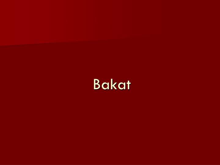 Bakat