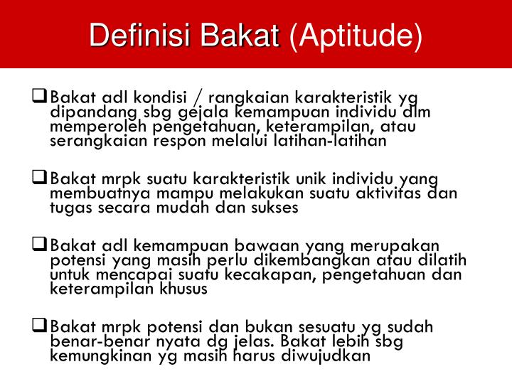 Definisi Bakat