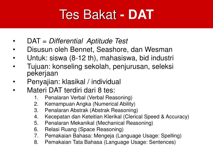 Tes Bakat