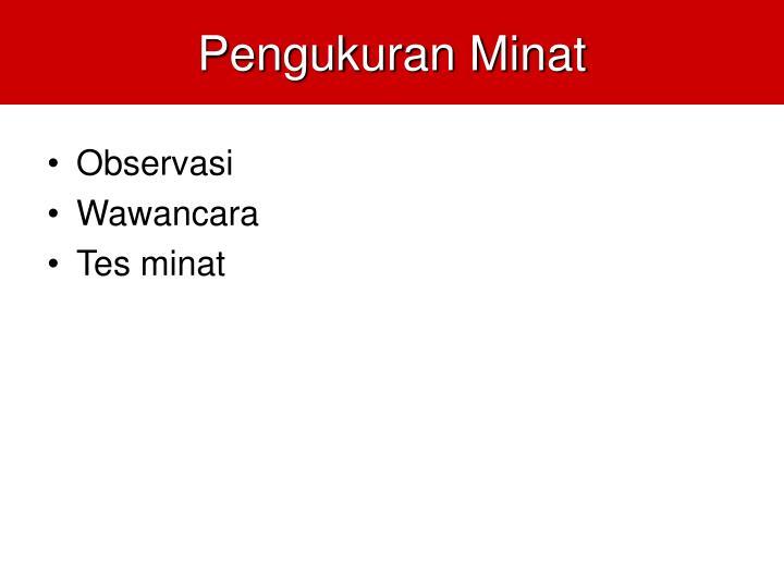 Pengukuran Minat