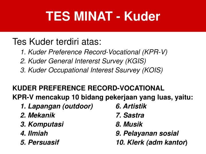 TES MINAT - Kuder