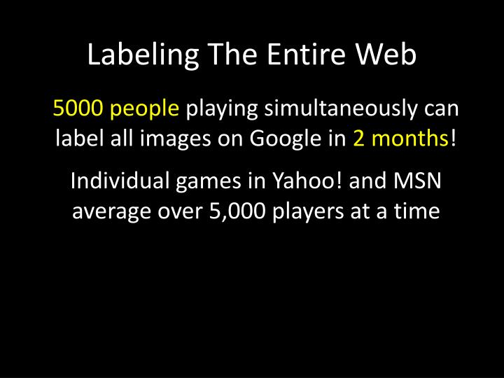 Labeling The Entire Web