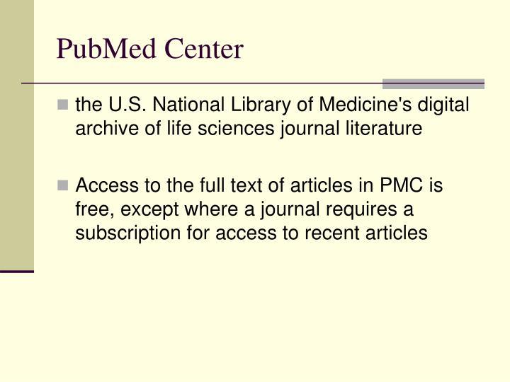 PubMed Center