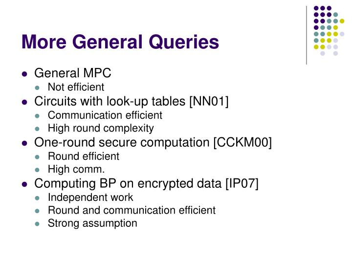 More General Queries