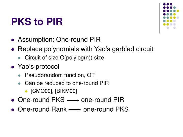 PKS to PIR