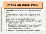 more on cash flow