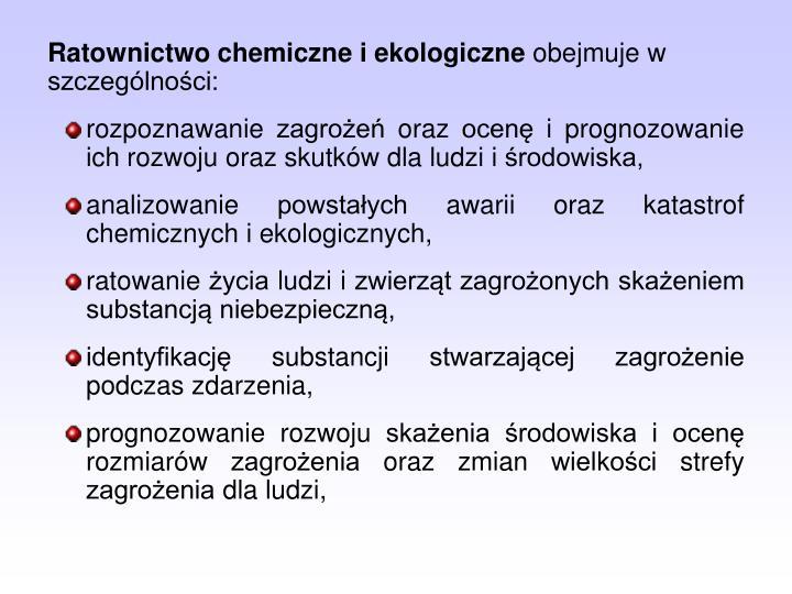Ratownictwo chemiczne i ekologiczne