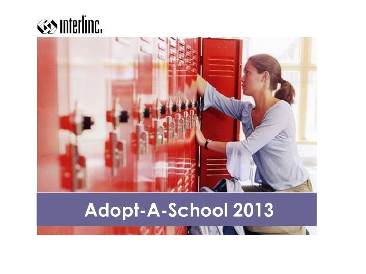 Adopt-A-School 2013