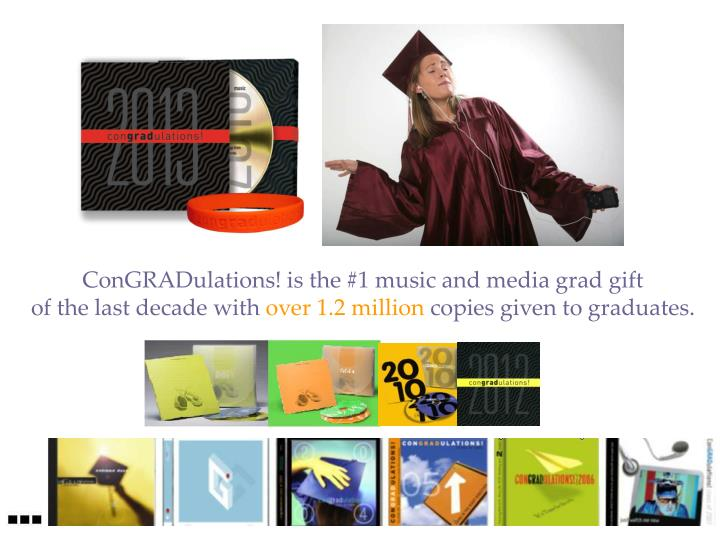 ConGRADulations! is the #1 music and media grad gift