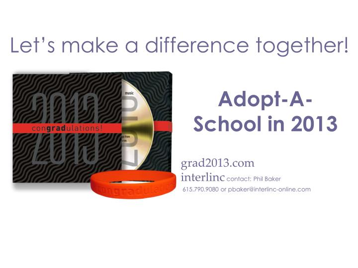 Let's make a difference together!