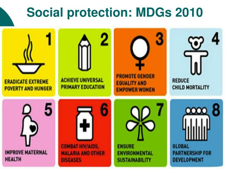 Social protection: MDGs 2010