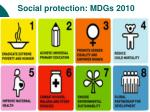 social protection mdgs 2010