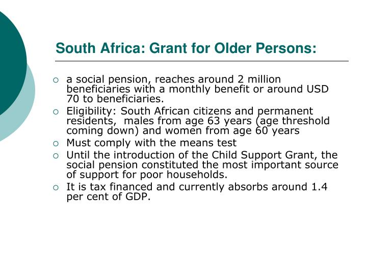 South Africa: Grant for Older Persons: