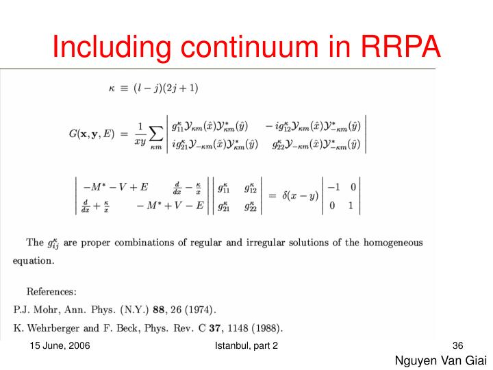 Including continuum in RRPA