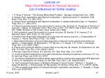 lectures on mean field methods for nuclear structure list of references for further reading