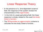 linear response theory