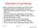 restoration of symmetries